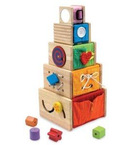 I'm toy набор из дерева из 5 развивающих коробочек