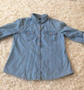 Джинсовая рубашка Zara 128