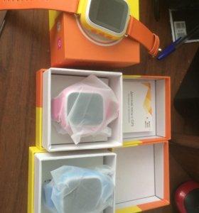 Детские часы с gps трекером новые, розовые.