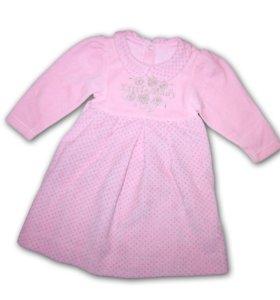 Платье детское велюровое новое. Р - 67,74,80,86