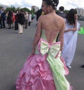 Продам выпускное бальное платье ручной работы