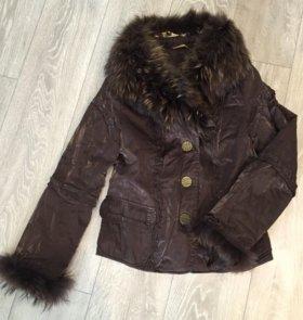 Куртка/дублёнка зимняя (44 размер).Мех натуральный