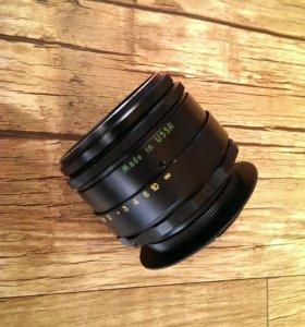 Объектив Гелиос 44-2 на Nikon