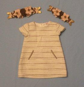 Нарядное платье на девочку 80см