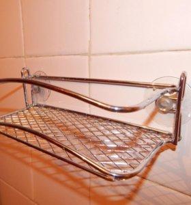 Полочка для ванной одноярусная хромированная новая