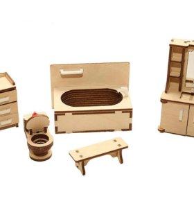 Наборы-комнаты для кукольного домика!