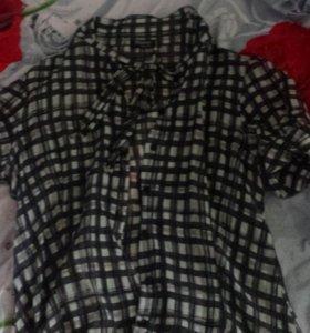 Рубашка в клетку 42