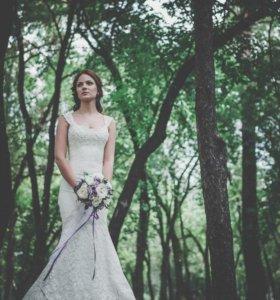 Продам Свадебное платье бежевое (шампань)