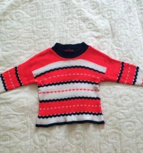 Яркий тонкий свитер р. 92
