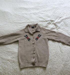 Ангорковый кардиган с вышивкой для девочек р. 152