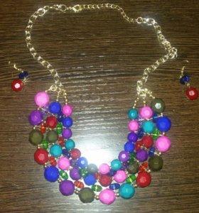 Ожерелье с серёжками