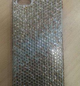 Чехол-крышка на IPhone SE/5/5S со стразами Сваровс