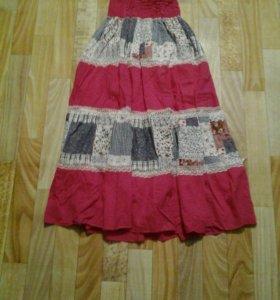 Длинная юбка-платье