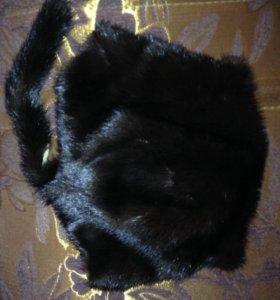 норковая шапка кошечка