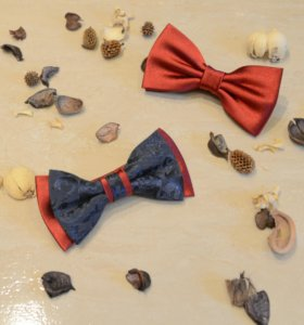 "Бабочка на шею ""Red fantasy"", бабочка галстук"