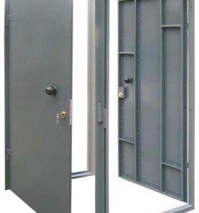 Железная дверь с коробкой