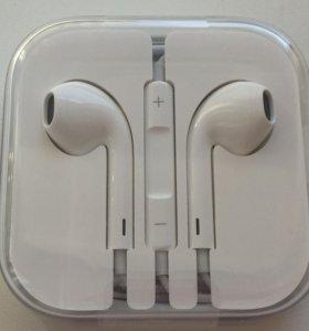 Оригинальные наушники Apple Earpods, новые