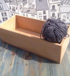 Деревянный ящик (беж)