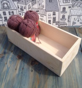 Деревянный ящик(натуральный)