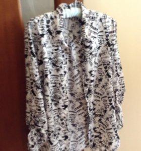 Удлиненная тонкая блузка-рубашка reserved