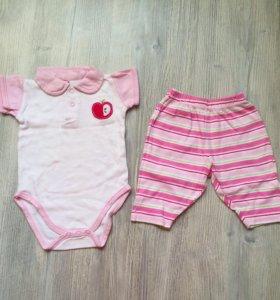 Одежда на малышку 0-3 мес.