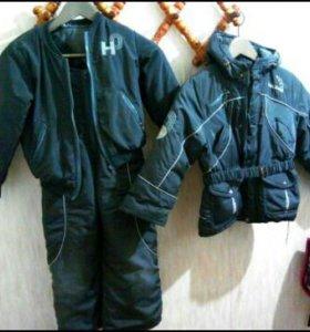 Зимний комплект 2 куртки и брюки