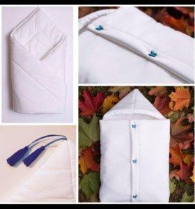 Конверт для выписки + одеялко (комплект)