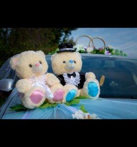Аренда мишек и колец на свадьбу