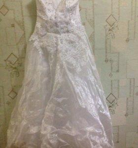 Платье пышное свадебное 46-48 размера.