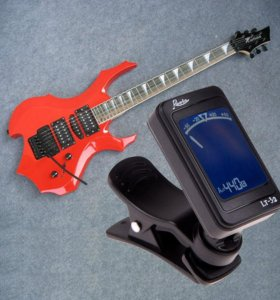 Цифровой хроматический гитарный тюнер на прищепке