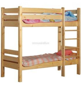 Двухъярусная кровать классика 70х150