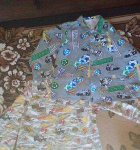 2-е Пижамы на мальчика от 7 лет