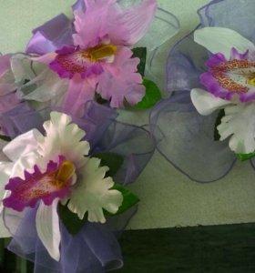 Цветы на свадебную машину 9 шт. б/у