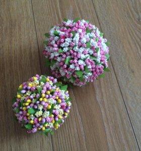 Декоративные шары из пенопласта