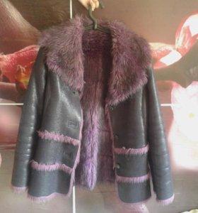 Зимняя куртка,мех искуственный,очень тёплая