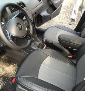 Чехлы из экокожи на VW Polo