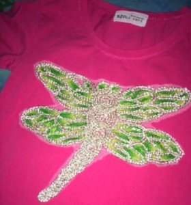 Розовая футболка, размер 42