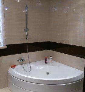 Монтаж сантехники ванной комнате.