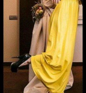 Платье желтое-яркое