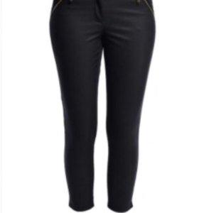Новые брюки с кожей