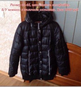 Удлиненная куртка зимняя, 44-46 размер.