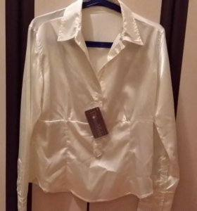 Блузка новая, атласная, размер 46-48