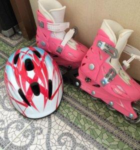 Шлем , роликовые коньки