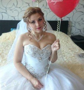 Свадебное платье (отличное состояние)