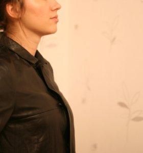 Кожаное пальто куртка Just Cavalli оригинал
