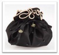 Атласная вечерняя сумочка-мешочек Mary Kay