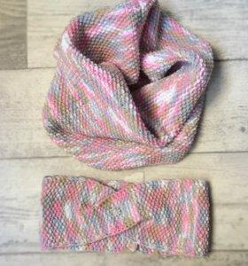 Снуд и повязка из итальянской шерсти