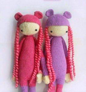 Вязаные мишки-девочки