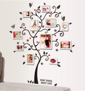 Дерево декор стен