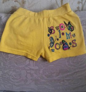 Новые желтые шорты.